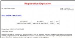 Registration Expiriation