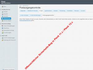 offensichtlichen Plesk-SMTP-Bug gefunden
